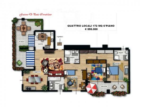 Appartamento in vendita a Milano, Precotto, Con giardino, 172 mq - Foto 11