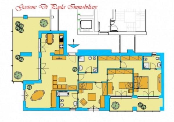 Appartamento in vendita a Milano, Precotto, Con giardino, 172 mq - Foto 2