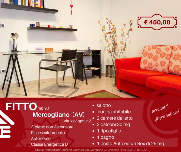 Appartamento in affitto a Mercogliano, Centro, 90 mq - Foto 1