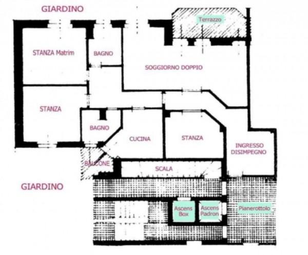 Appartamento in affitto a Monza, Musicisti, Arredato, con giardino, 140 mq - Foto 22