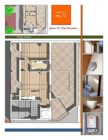 Appartamento in vendita a Milano, Piazzale Martini, Con giardino, 72 mq - Foto 3