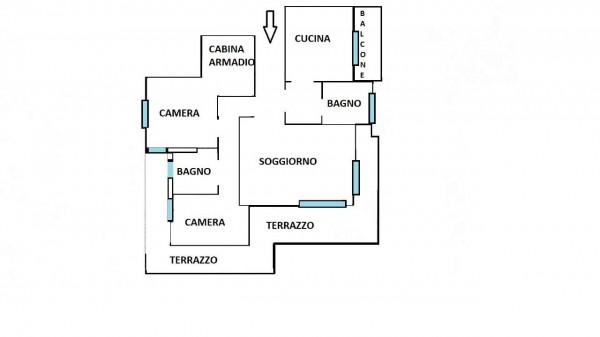 Appartamento in vendita a Milano, Arredato, con giardino, 150 mq - Foto 39