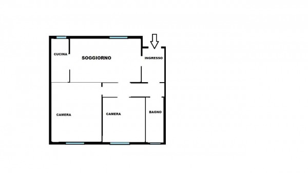 Appartamento in vendita a Milano, M5 San Siro Stadio, Con giardino, 100 mq - Foto 2