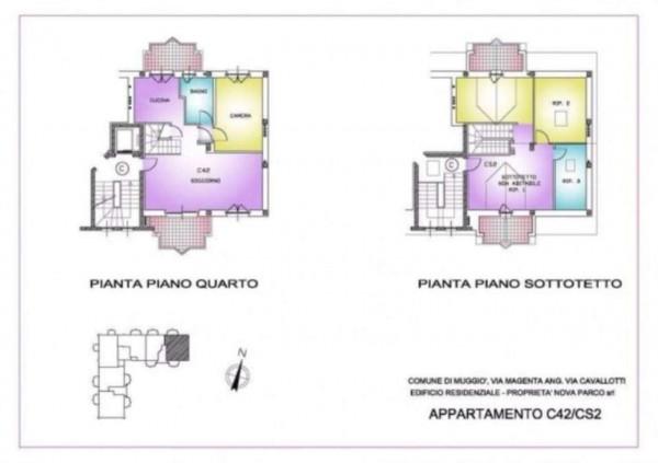 Appartamento in vendita a Muggiò, Con giardino, 93 mq - Foto 4