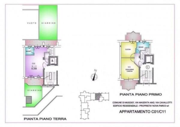 Appartamento in vendita a Muggiò, Con giardino, 93 mq - Foto 5