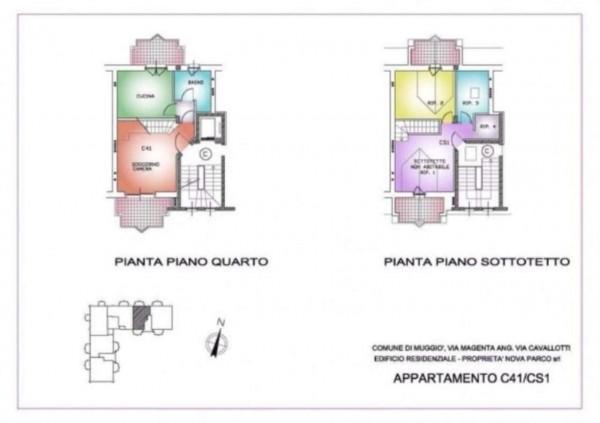 Appartamento in vendita a Muggiò, Con giardino, 93 mq - Foto 3