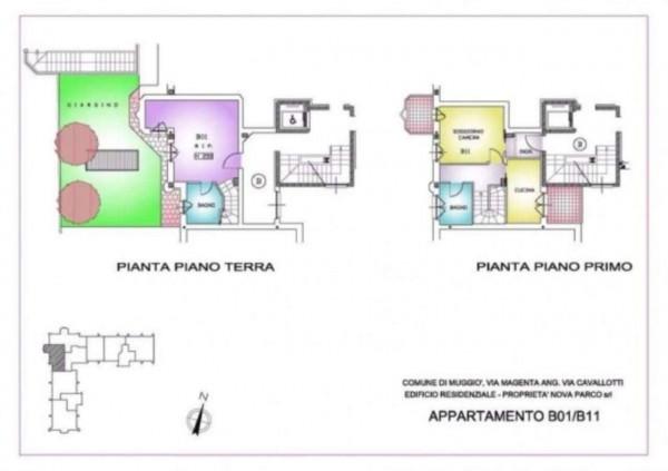 Appartamento in vendita a Muggiò, Con giardino, 93 mq - Foto 2