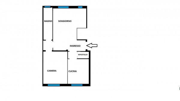 Appartamento in vendita a Milano, Con giardino, 80 mq - Foto 24