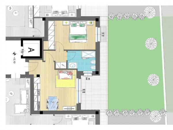 Appartamento in vendita a Inzago, Con giardino, 61 mq - Foto 8