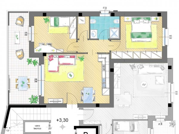 Appartamento in vendita a Inzago, Con giardino, 61 mq - Foto 4