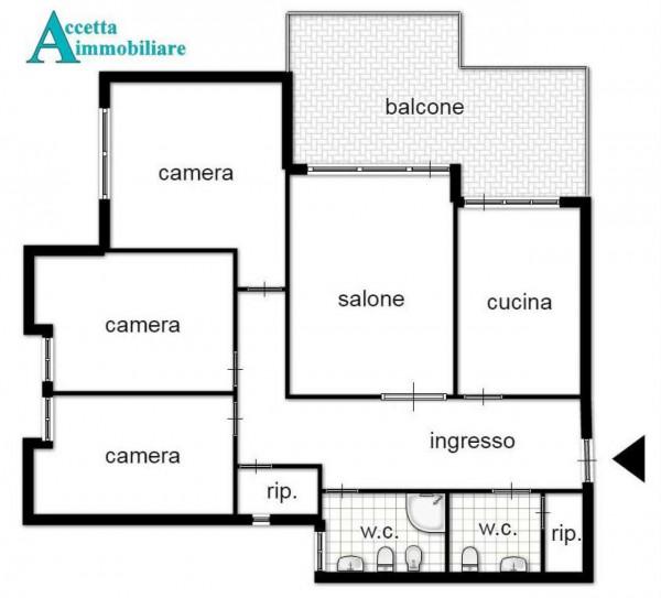 Appartamento in vendita a Taranto, Semicentrale, 116 mq - Foto 2