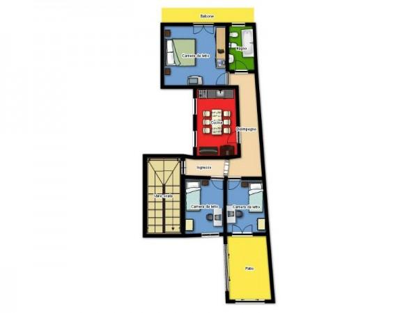 Appartamento in vendita a Lecce, Zon Via Taranto, Arredato, 85 mq - Foto 3