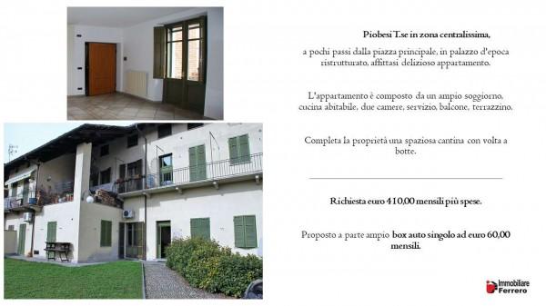 Appartamento in affitto a Piobesi Torinese, Centralissima, Con giardino, 75 mq - Foto 2