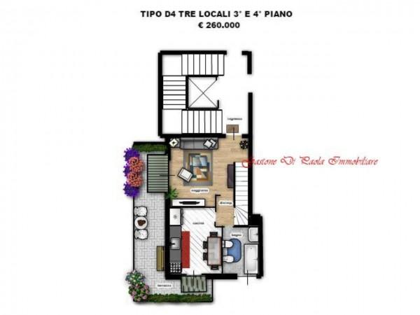Appartamento in vendita a Milano, Precotto, Con giardino, 72 mq - Foto 6