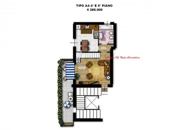 Appartamento in vendita a Milano, Precotto, Con giardino, 72 mq - Foto 12