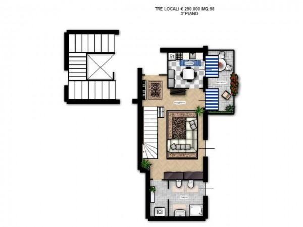 Appartamento in vendita a Milano, Precotto, Con giardino, 90 mq - Foto 5