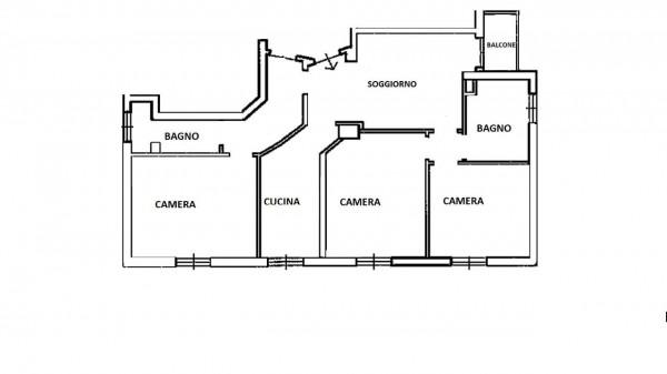 Appartamento in vendita a Milano, Con giardino, 115 mq - Foto 37