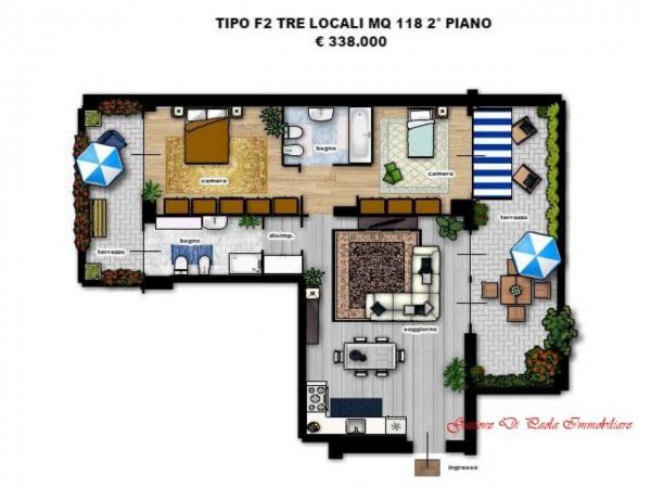 Appartamento in vendita a Milano, Portello, Con giardino, 118 mq - Foto 3