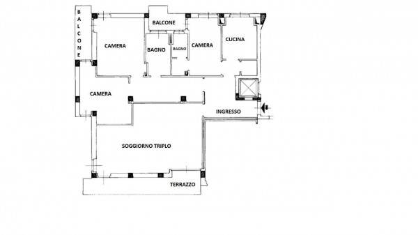 Appartamento in vendita a Milano, Con giardino, 150 mq - Foto 38