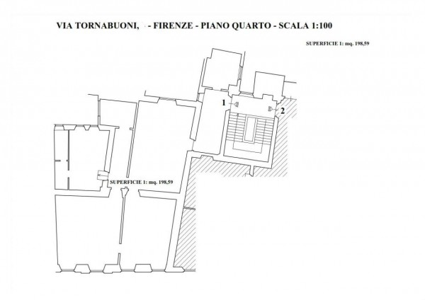 Ufficio in affitto a Firenze, 198 mq - Foto 2