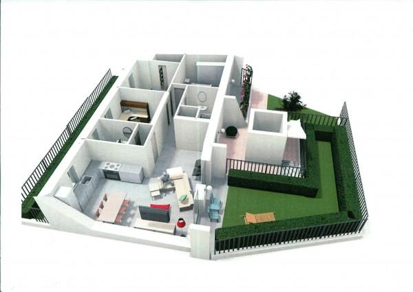Appartamento in vendita a Alpignano, Centro, Con giardino, 118 mq - Foto 2