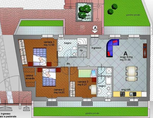 Appartamento in vendita a Alpignano, Centro, Con giardino, 118 mq - Foto 3
