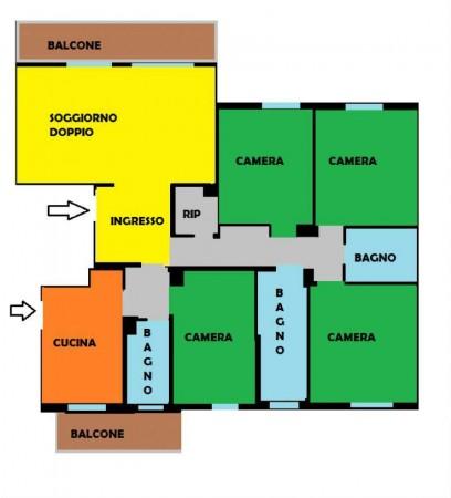 Appartamento in vendita a Milano, Con giardino, 180 mq - Foto 2