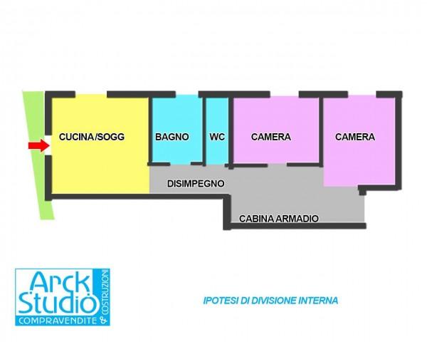 Appartamento in vendita a Cassano d'Adda, Groppello, Con giardino, 70 mq - Foto 4