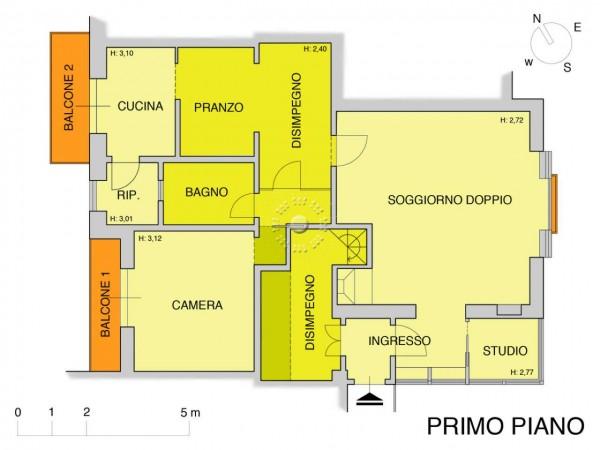 Appartamento in vendita a Firenze, Con giardino, 152 mq - Foto 3