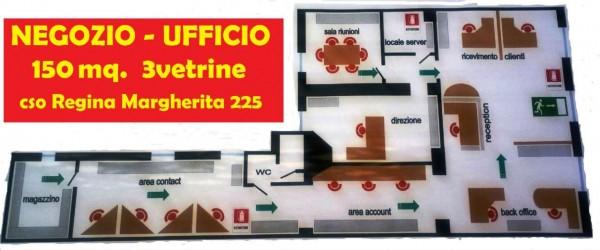 Negozio in affitto a Torino, Corso Regina, 160 mq