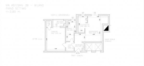 Appartamento in vendita a Milano, Affori Fn, 55 mq - Foto 2