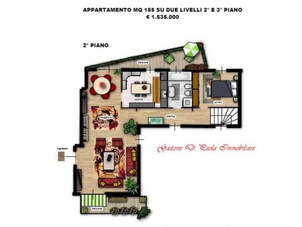 Appartamento in vendita a Milano, Centro Storico, Con giardino, 155 mq - Foto 1