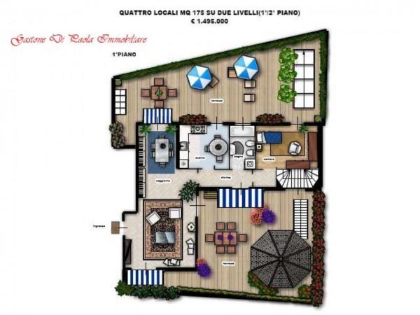 Appartamento in vendita a Milano, Centro Storico, Con giardino, 155 mq - Foto 12