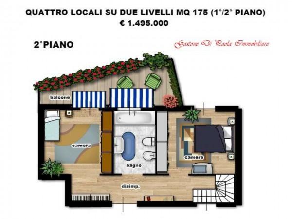 Appartamento in vendita a Milano, Centro Storico, Con giardino, 155 mq - Foto 11