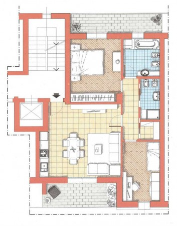 Appartamento in vendita a Milano, Piazzale  Accursio, Con giardino, 96 mq - Foto 3