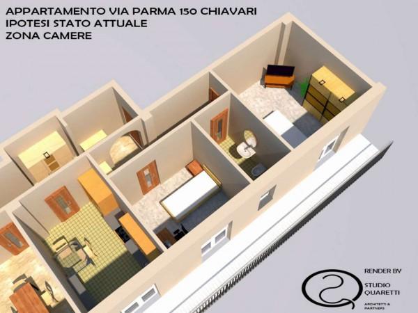 Appartamento in vendita a Chiavari, Caperana, 90 mq