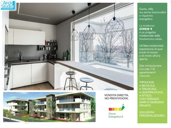 Appartamento in vendita a Cassano d'Adda, Civico9 Greenlife, Con giardino, 97 mq - Foto 9