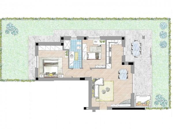 Appartamento in vendita a Cassano d'Adda, Civico9 Greenlife, Con giardino, 97 mq - Foto 5