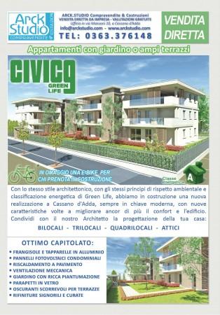 Appartamento in vendita a Cassano d'Adda, Civico9 Greenlife, Con giardino, 97 mq - Foto 11