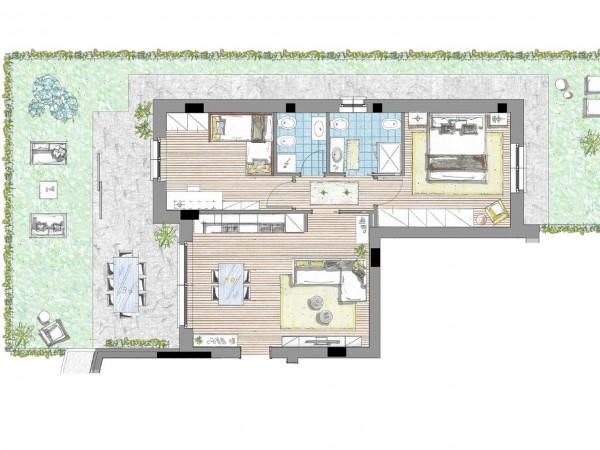 Appartamento in vendita a Cassano d'Adda, Civico9 Greenlife, Con giardino, 93 mq - Foto 4