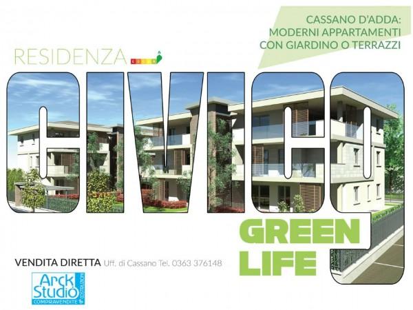 Appartamento in vendita a Cassano d'Adda, Civico9 Greenlife, Con giardino, 85 mq - Foto 7