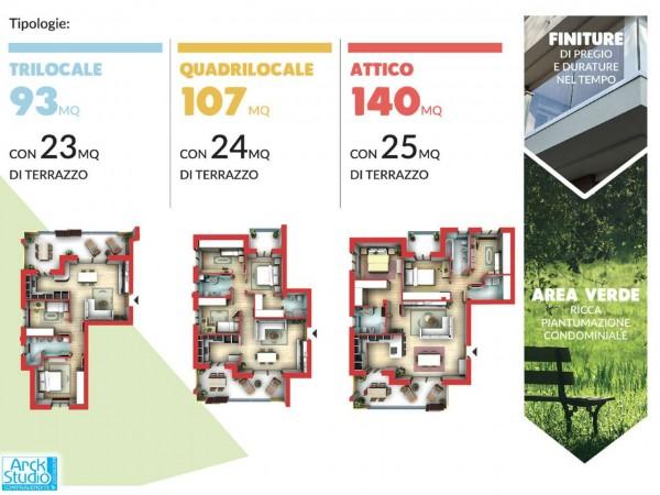 Appartamento in vendita a Cassano d'Adda, Civico9 Greenlife, Con giardino, 85 mq - Foto 8