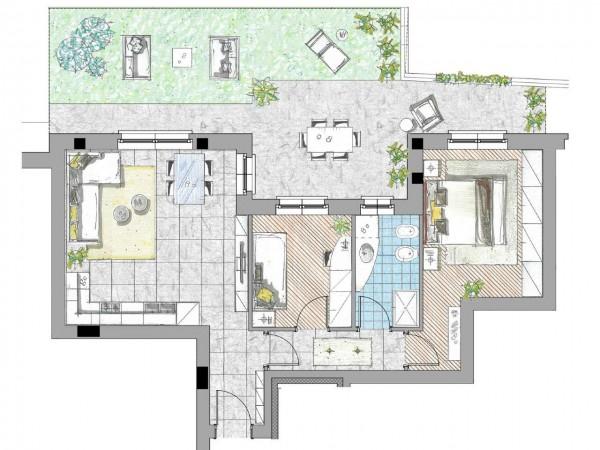 Appartamento in vendita a Cassano d'Adda, Civico9 Greenlife, Con giardino, 85 mq - Foto 2