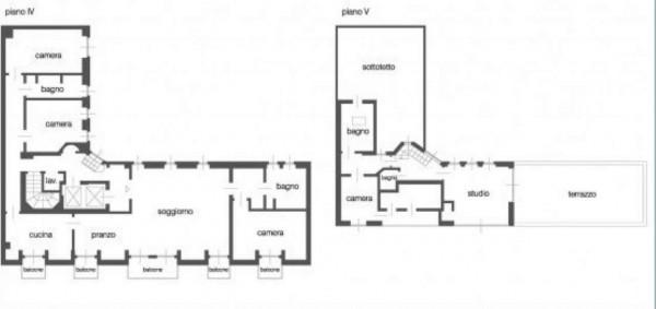 Appartamento in affitto a Milano, Monforte, Con giardino, 240 mq - Foto 7