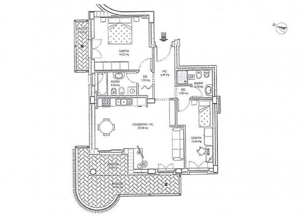 Appartamento in vendita a Roma, 81 mq - Foto 7