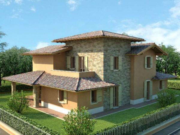 Villa in vendita a Travagliato, Con giardino, 620 mq - Foto 4