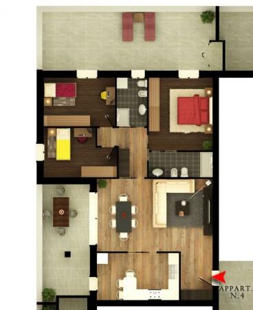 Appartamento in vendita a Albignasego, Con giardino, 154 mq