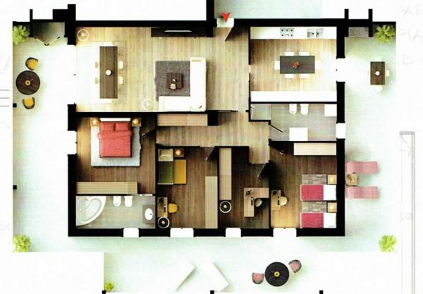 Appartamento in vendita a Albignasego, Con giardino, 239 mq - Foto 2