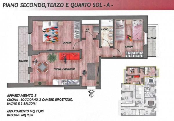 Appartamento in vendita a Firenze, San Jacopino, 72 mq