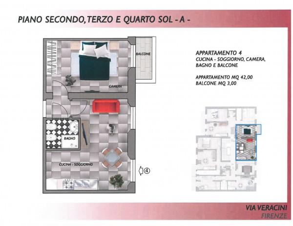 Appartamento in vendita a Firenze, San Jacopino, 42 mq